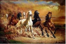 """MODERN HUGE WALL ART OIL PAINTING ON CANVAS""""Majestic Horse"""""""