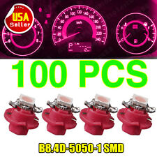 100X T5 B8.4D 5050 SMD LED Pink Purple Dash Dash Gauge Instrument Light Bulbs US
