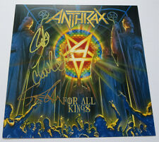 """ANTHRAX signed 12X12 12"""" ALBUM COVER photo FOR ALL KINGS LP EXACT PROOF"""