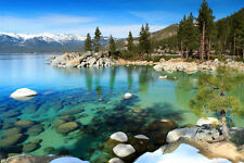 Lake Tahoe, California - 3D Lenticular Postcard Greeting Card