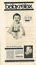 PUBLICITE ADVERTISING 024   1965   BABY-RELAX  chauffe-biberon