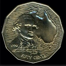 AUSTRALIAN 1970 Captain Cook 50 Cent Coin EF
