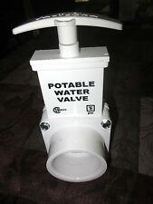 1.5 inch Potable Water Valve Valterra White Camper RV Trailer NOS