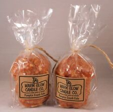 Warm Glow Candle Co. 5 oz. Hand-Dipped PUMPKIN CRUMB CAKE Candles, Set of 2