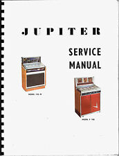 SERVICE MANUAL (MANUALE SERVIZIO) JUKEBOX  JUPITER 120-M AND F-100 (juke box)
