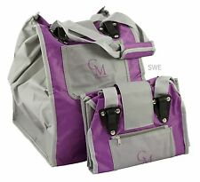 CarryMore Set of 2 Reusable Shopping Bags - Purple/Gray