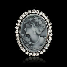 Elegant Vintage Women Lady Victorian Cameo Pendant Cameo Brooch Pin For Party