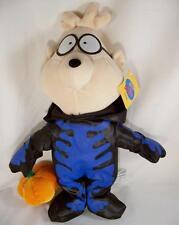 """Rare Alvin and the Chipmunks Halloween SIMON Skeleton Plush 15"""" NWT Toy Network"""