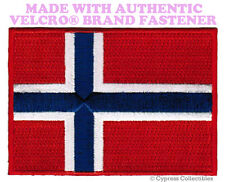 NORWAY FLAG PATCH NORWEGIAN EMBROIDERED SOUVENIR new w/ VELCRO® Brand Fastener