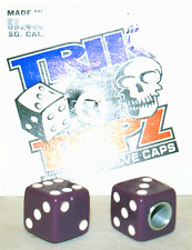 Trick Top Schrader Valve Caps / Purple Dice NEW!