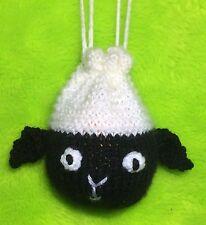 KNITTING PATTERN - Easter Lamb Drawstring Sheep Bag 10 cms fits Choc orange