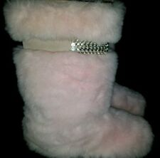 Women's Mammoth yeti eskimo mukluk fur fluffy winter snow boots size 8