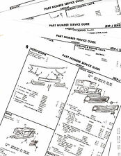 THRU 1972 JEEP J-SERIES THRIFTSIDE TOWNSIDE BODY PART NUMBERS LIST CRASH SHEETS!