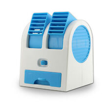 Mini Desktop Air Conditioner Well USB  Fan Cooling Portable Cooler Small Blue