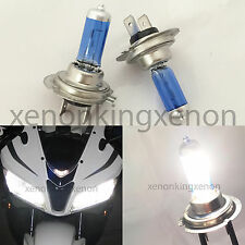 H7 White 100 Watt 5000K Xenon Halogen Headlight Lamp 2x Light Bulb #r1 For Bike
