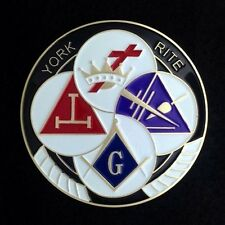 Masonic York Rite Car  Auto Emblem (YRA-1)