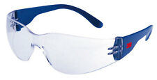3M 2720 Safety Glasses/Spectacles Blue Frame With CLEAR Lens For Eye Protection