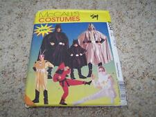McCalls 8334 Childs Costumes Halloween Sewing Pattern Size 10-12 UNCUT Superhero