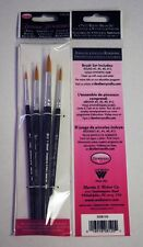 Donna Dewberry 4-piece Round Brush Set, for acrylic & watercolor painting