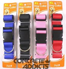 Pet Inc Dog Collar Available in Black, Red, Pink, or Blue In Size S, M, L, or XL