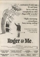 21/4/90Pgn26 Advert: On Screens Now roger & Me A Film By Michael Moore 7x5