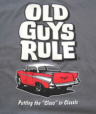 Classic 57 Chevy Old Guys Rule 100% Cotton Lg Tee Shirt Classic Car Collectible