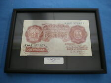 Framed Ten Shilling Note 10/- L K O'BRIEN  (1955) 60th Birthday Year