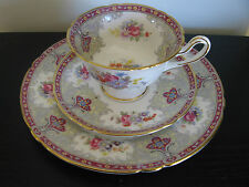 Shelley Red Georgian China Trio Cup & Saucer