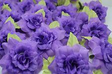 purple 10pcs artificial Silk Flower rose flower head DIY wedding supplies