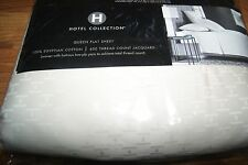 HOTEL COLLECTION 600TC JACQUARD QUEEN FLAT SHEET - Ivory New