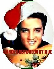 20 WATER SLIDE NAIL ART TRANSFER DECALS ELVIS WITH CHRISTMAS HAT