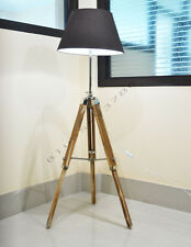 DESIGNER ROYAL NAUTICAL TRIPOD FLOOR LAMP, WOODEN TRIPOD LAMP STAND MODERN
