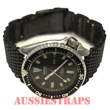 20mm PVD SHARK MESH BRACELET WATCH BAND Divers SS fits Seiko and Samsung Gear S2