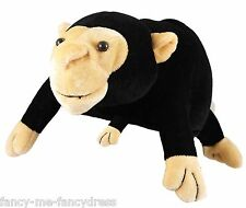 Pour Hommes Femmes Noir Singe Animal Drôle Festival Costume Déguisement Chapeau