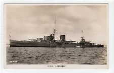 "HMS ""LEANDER"": Naval shipping postcard (C14838)"