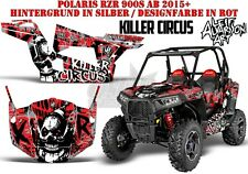AMR Racing DECORO GRAPHIC KIT UTV POLARIS General/RZR 900s/1000xp killer Circus B