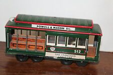 NICE TIN  FRICTION POWERED SAN FRANCISCO TROLLEY CAR #512