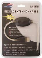 USB 2.0 Active Extension Cable / Repeater Cable, 16 feet
