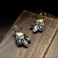 New Fashion Style Unique Retro Crystal Resin Drop Dangle Flower Stud Earring