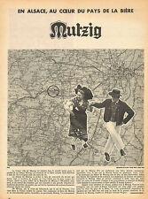 Publicité Advertising 1956  Bière MUTZIG d'Alsace