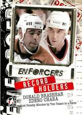 Donald Brashear 22 2011-12 In The Game Enforcers Record Holders Zdeno Chara