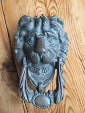 VICTORIAN  FRONT DOOR KNOCKER ANTIQUE OLD PERIOD PULL HANDLE BRASS RECLAIMED.