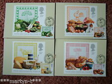 Porte timbre de cartes ide (avant) 116 food and farming 1989 carte 4 set. parfait état