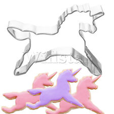 Horse Unicorn Cookies Cutter Mold Cake Decorating Pastry Baking Biscuit Mould UK