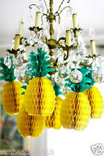 5Pcs Tropical Fiesta Big Pineapple Honeycomb Centerpiece Table Decorations