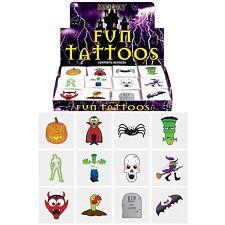 36 per bambini Halloween tatuaggi temporanei BAMBINI / BAMBINO PARTY BORSA FILLER / giocattolo / trasferimento