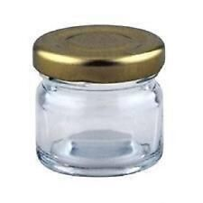 40 X 30ml, small 1oz 28g MINI GLASS JARS WITH GOLD LIDS marmalade jam paint pots