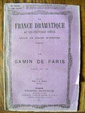 Théâtre Bayard et E. Vanderburch Le Gamin de Paris  Ed. Tresse 1872 Vaudeville