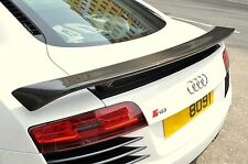 RTuned Audi R8 Carbon Fiber GT Rear Wing Spoiler & FRP Base. For Coupe or Spider