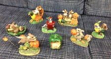 Thanksgiving Lot (8) Charming Tails Mice/Bunny/Raccoon/Halloween Pumkin Harvest
